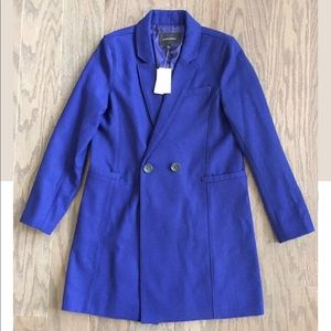 Banana Republic royal blue double breasted coat
